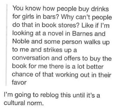buy a book not a drink